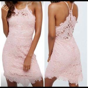 Free People She's Got It Pink Lace Dress Small